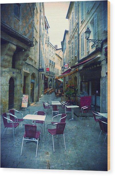 Auch- Rue Dessoles Wood Print by Sandrine Pelissier