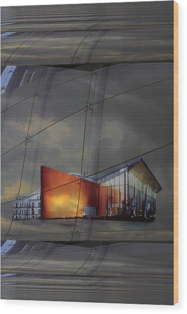 Auditorium Miguel Delibes Wood Print