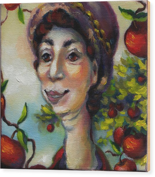 Aunt Berta Wood Print