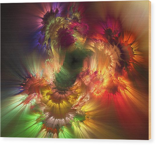 Auras Emotional Reflections Wood Print