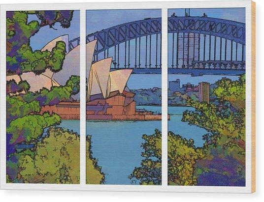 Australian Icons 1 Wood Print