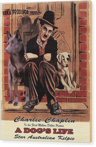 Australian Kelpie - A Dogs Life Movie Poster Wood Print