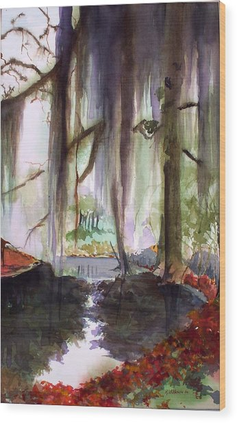 Autum Bayou Wood Print
