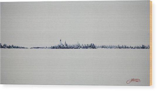 Autum Skyline Wood Print