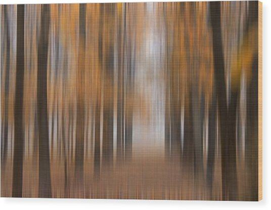 Autumn Abstract Wood Print