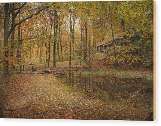 Autumn At Voorhees Wood Print