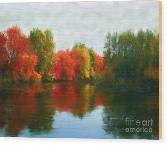 Autumn Blaze Wood Print by Earl Jackson