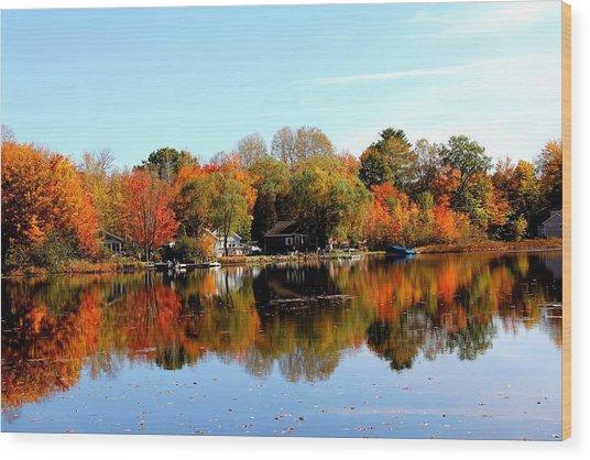 Autumn Bronze Wood Print