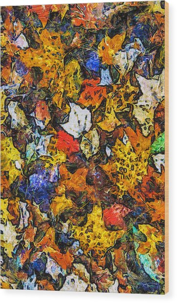 Autumn Floor Wood Print