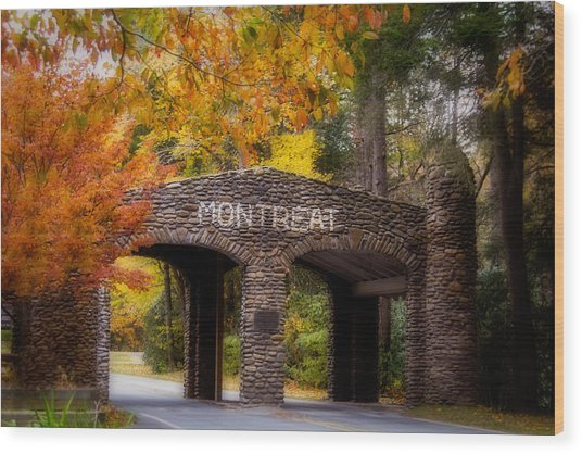 Autumn Gate Wood Print