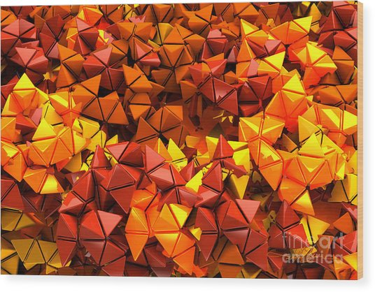 Autumn Hedron 2436 Wood Print
