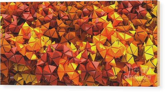 Autumn Hedron 6028 Wood Print