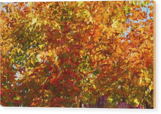 Autumn In October Wood Print by Anthony Rego