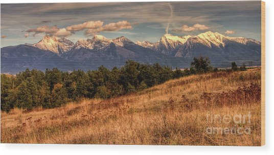 Autumn Mission Wood Print by Katie LaSalle-Lowery