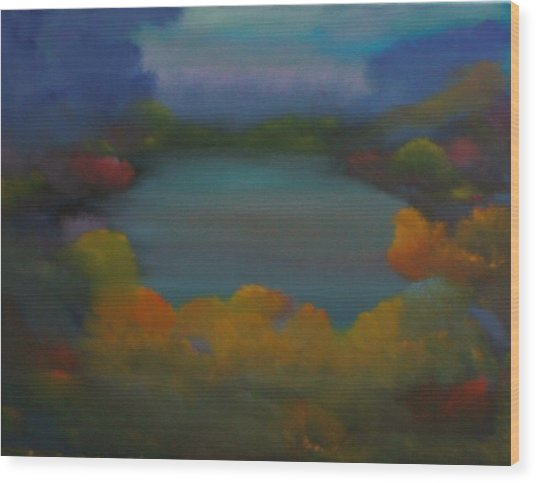 Autumn Mist Wood Print by David Snider