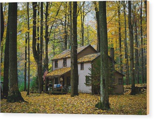 Autumn Peace Wood Print