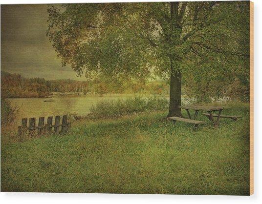 Autumn Picnic Wood Print