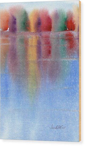 Autumn Reflections No. 1 Wood Print