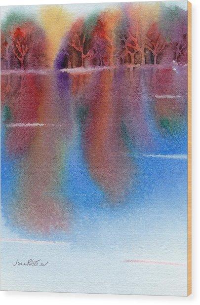 Autumn Reflections No. 6 Wood Print