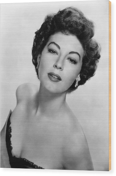 Ava Gardner, Ca. 1950s Wood Print by Everett