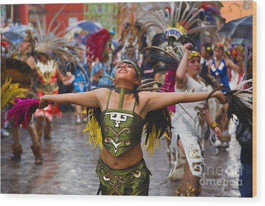 Aztec Dancer - San Miguel De Allende Wood Print