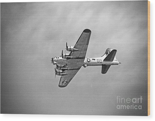 B-17 Bomber - Dust And Scratch Wood Print