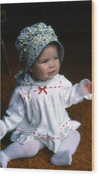Baby Jessica Wood Print