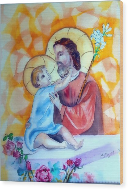 Baby Jesus  Wood Print by Myrna Migala