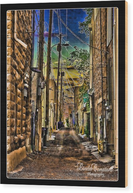 Back Alley Wood Print