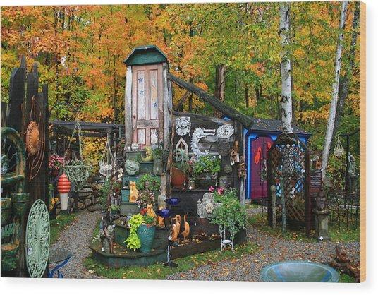 Backyard Craft Show Wood Print