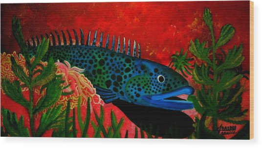 Badbluefish Wood Print