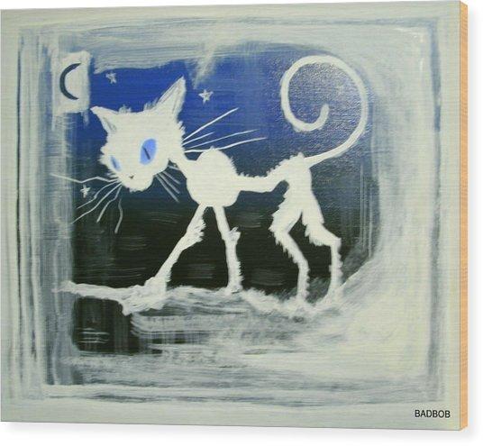 Badcat Wood Print