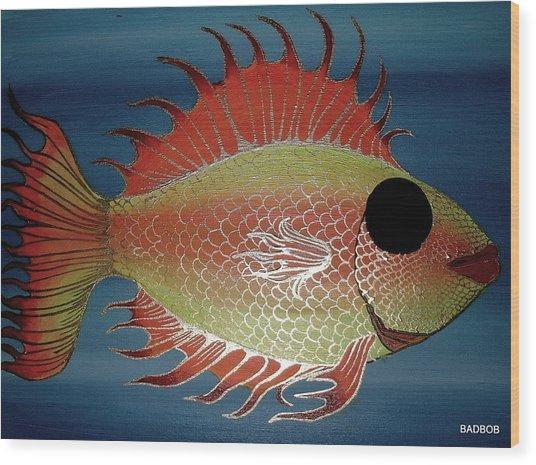 Badfish Wood Print