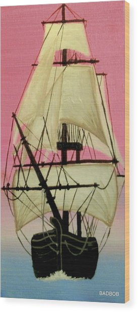 Badship Wood Print