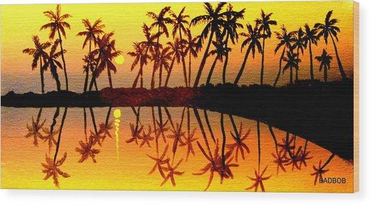 Badsummer Sun Wood Print