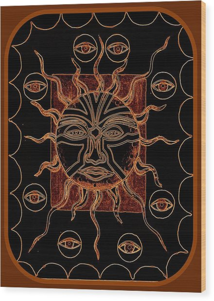 Badsunburn Wood Print