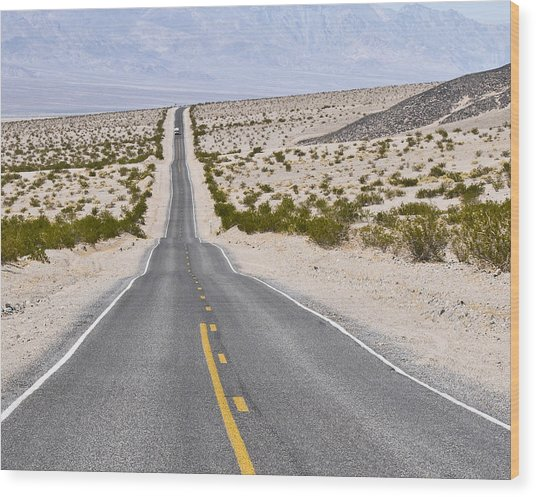 Badwater Road Wood Print