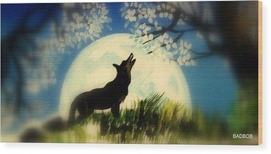 Badwolf Wood Print