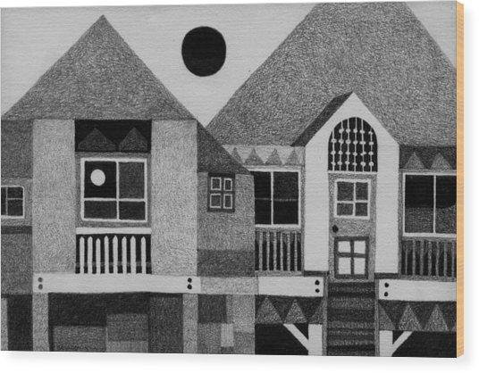 Bahay Pilipino Wood Print