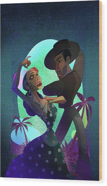 Baile De Amor Wood Print