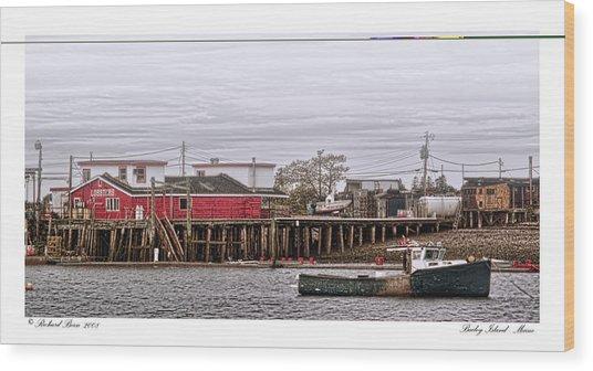 Bailey Island Maine Wood Print by Richard Bean