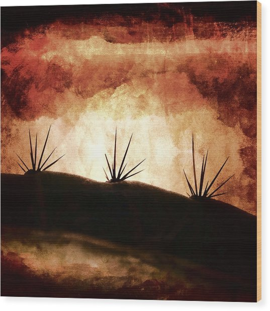Baja Light Shimmer Wood Print