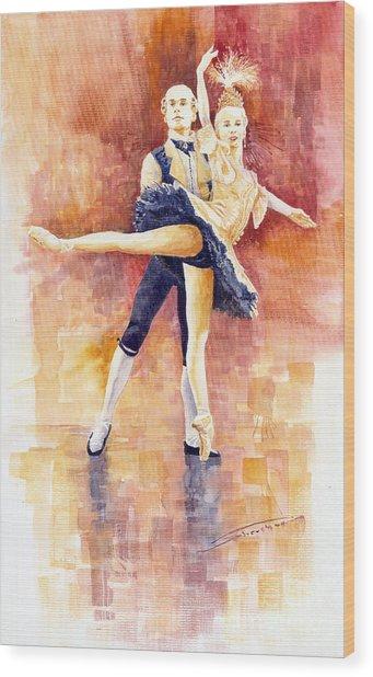 Balet 01 Wood Print