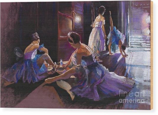 Ballet Behind The Scenes Wood Print