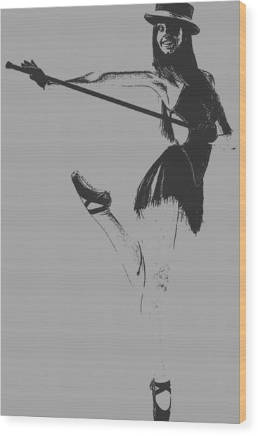 Ballet Girl Wood Print by Naxart Studio