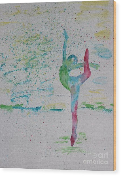 Ballet Pointe 2 Wood Print by Carolyn Weir