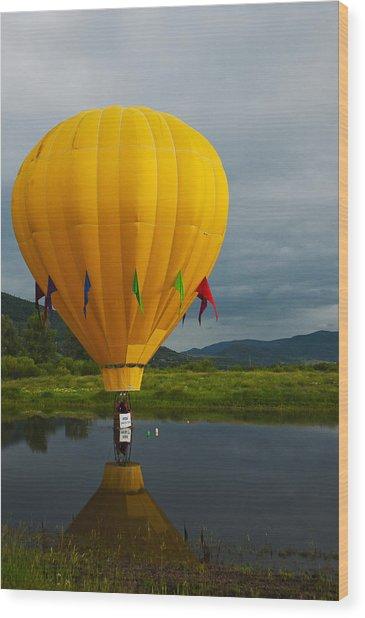 Balloon At Festival Wood Print