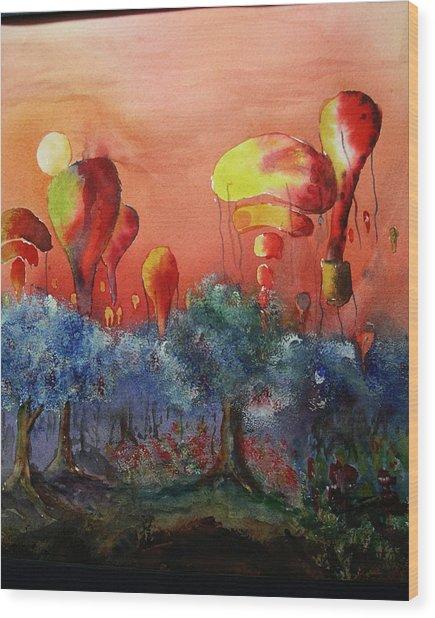 Balloon Fantasy Wood Print by David Ignaszewski