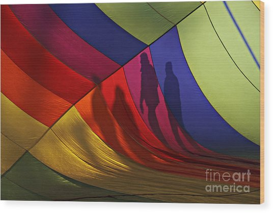 Balloon Shadows Wood Print