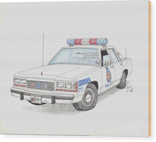 Baltimore County Police Car Wood Print by Calvert Koerber